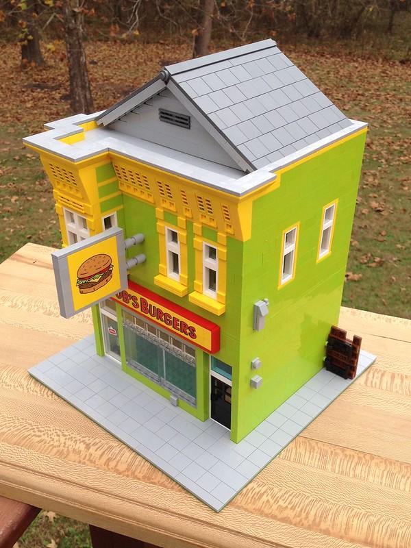 MOC: Bob's Burgers Restaurant - LEGO Town - Eurobricks Forums