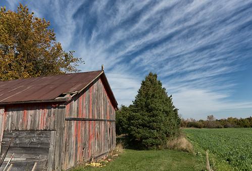 ca sky ontario canada field clouds barn farm lucknow cirrus amberly markheine heinefarm