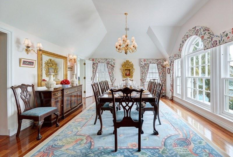 Столовая комната в доме на Бермудах
