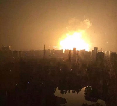 Chemical explosions in north east China's Tianjin city