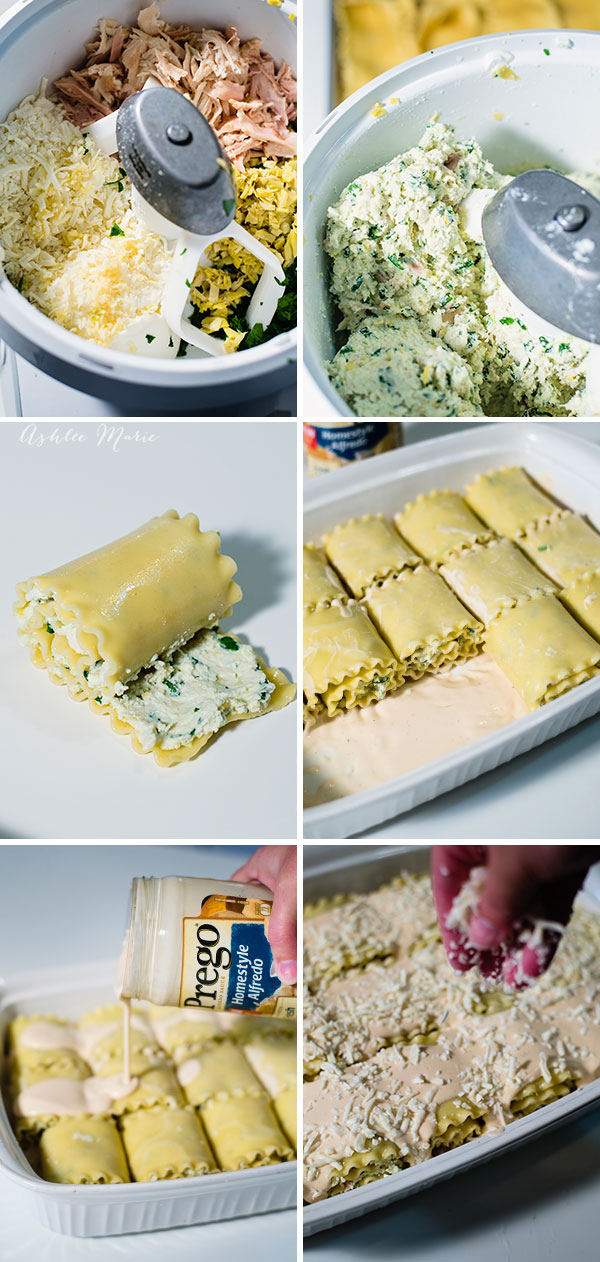 Lasagna roll ups are an easy dinner to make, cook the noodles, mix the filling and spread then roll! cover in alfredo and heat, everyone loves this quick dinner