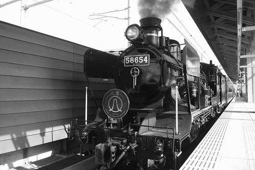 'SL HITOYOSHI' at Kumamoto Station on OCT 23, 2015 (1)