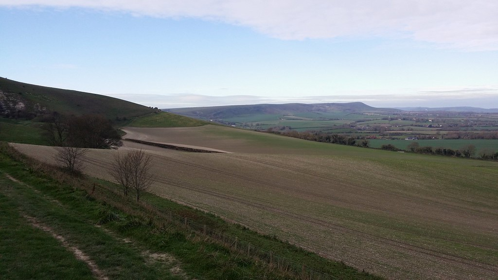 Looking along the South Downs #sh