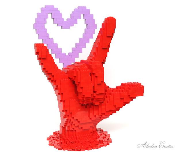 LEGO Love Hand