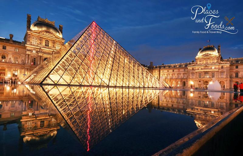 paris louvre reflection side