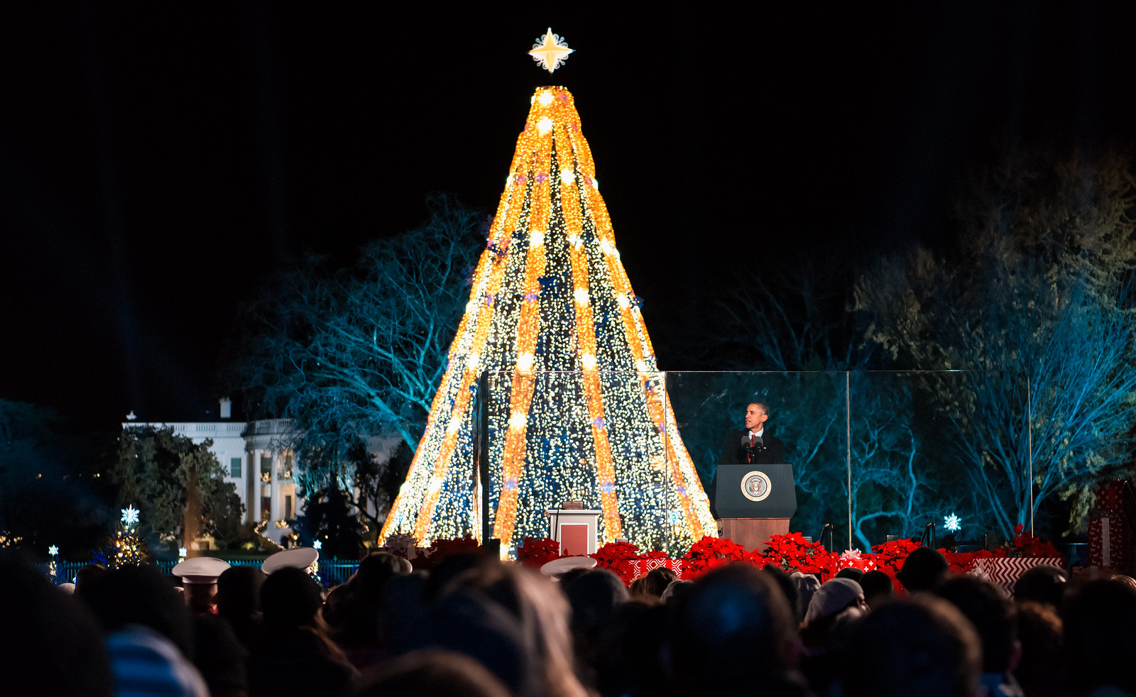 Barack Obama Delivers Remarks at the National Tree Lighting