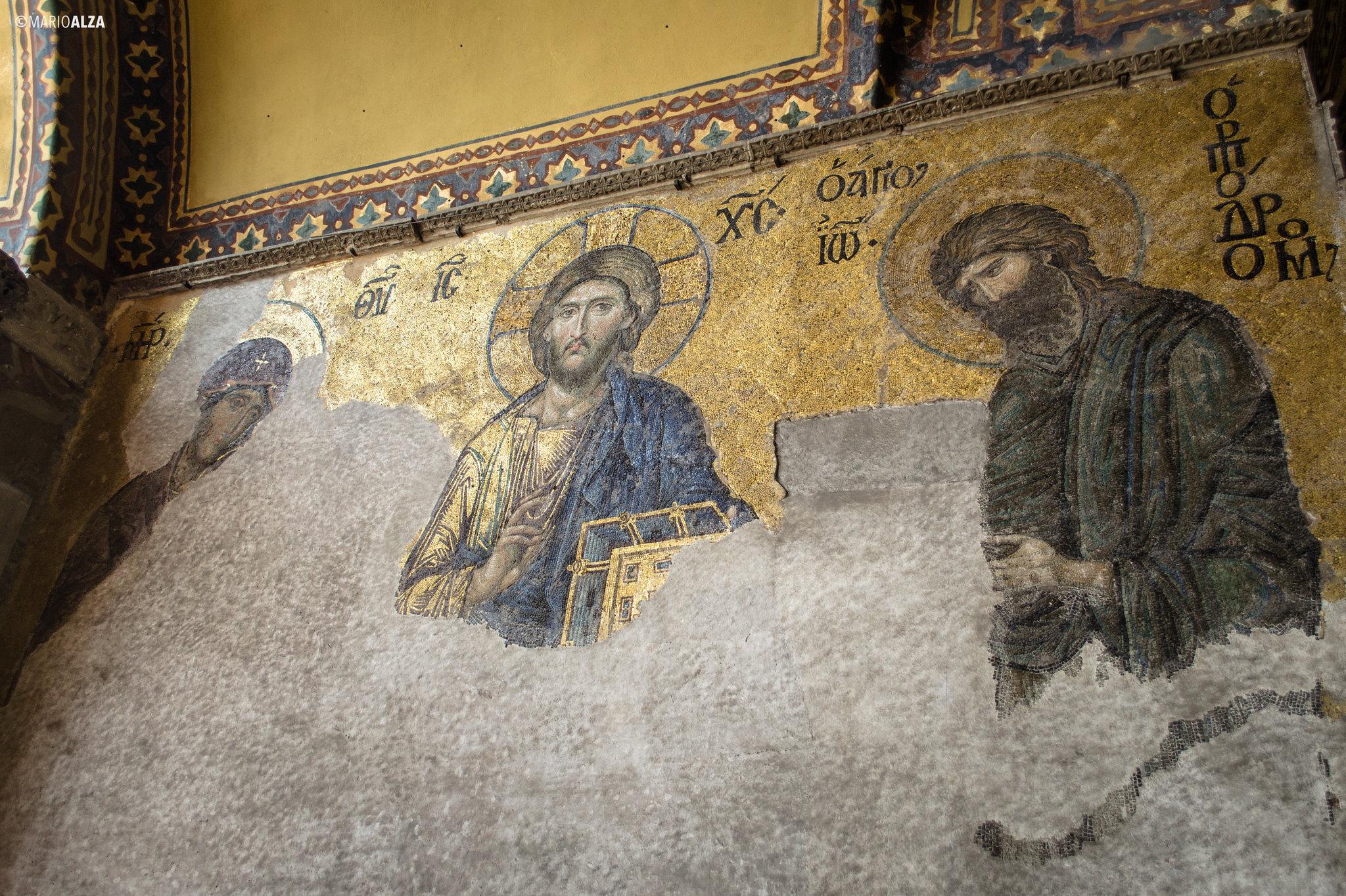 Mosáicos en Santa Sofía (Hagia Sophia)