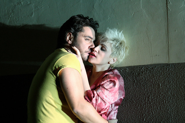 Carmen Giannattasio as Nedda and Dionysios Sourbis as Silvio in Pagliacci © 2015 ROH. Photograph by Catherine Ashmore
