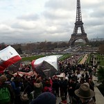 Sat, 12/12/2015 - 2:10pm - Eiffel Tower in our sites tens of thousands of people March to the Eiffel Tower from different locations to celebrate the planet Earth and the successful week of the conference UN Climate Change Conference and Paris agreement 2015