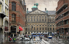 L'arri�re du Stadhuis (anciennement Palais Royal), Raadhuisstraat, Amsterdam, Nederland