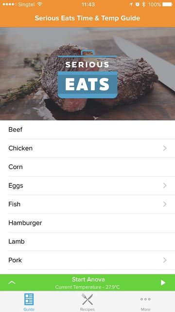 Anova Wi-Fi iOS App - Guides