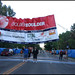 6 AM, 5/29.  Raising the banner at the Starting line for the Bolder Boulder