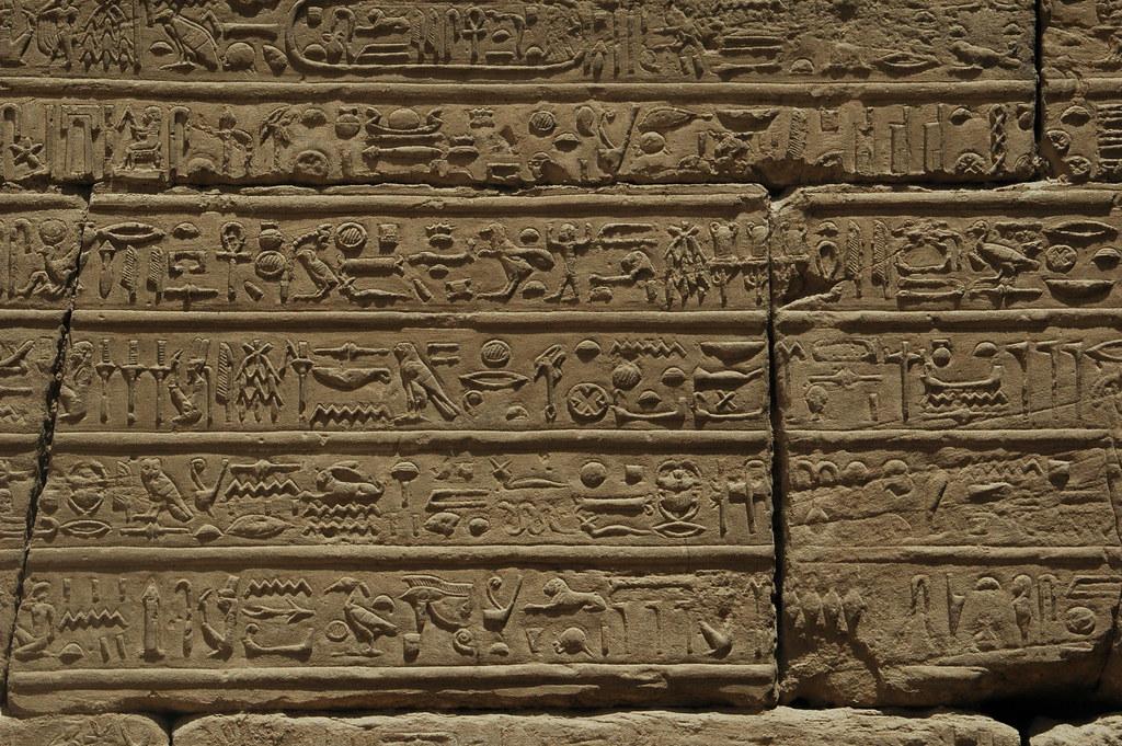 Detalle de las paredes del templo de Karnak, Egipto. Foto: Amerune