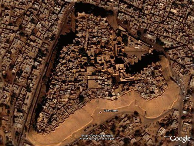 Jaisalmer on Google Earth