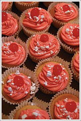 Cherry cupcakes demonstrating worker v boss thinking