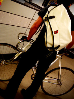 White Chrome Messenger Bag