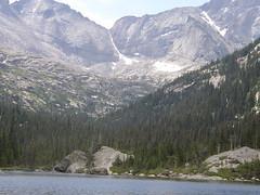 moraine, mountain, reservoir, valley, glacial landform, mountain range, loch, lake, fell, mountainous landforms,