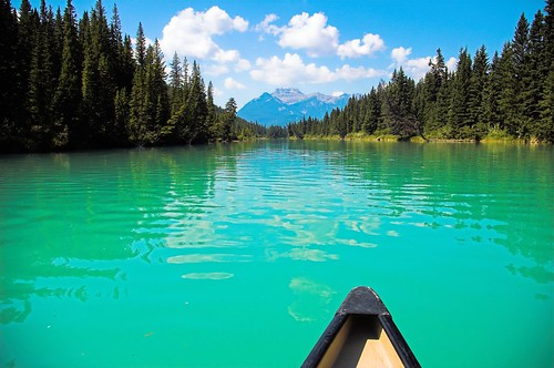 Canoeing on the Bow in Banff