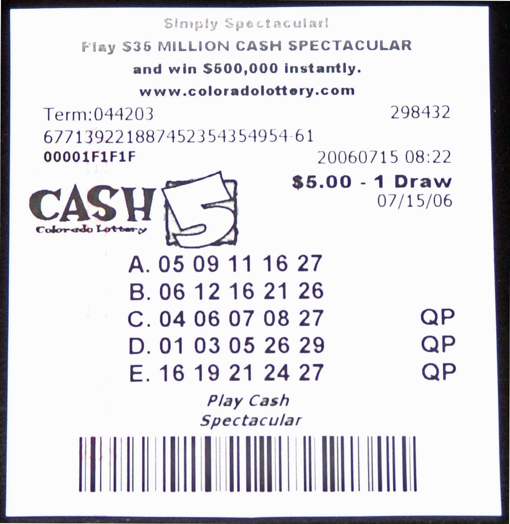 A Cash-5 Lottery Ticket From The