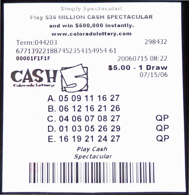 Colorado Lottery Ticket