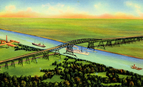 bridge river ship texas postcard ships bridges historic vintagepostcard orangecounty rainbowbridge bridging portarthur bridgecity jeffersoncounty nationalregisterofhistoricplaces nrhp bridgepixing bridgepix bridgeblog bridgephoto bridgepicture nechesriver texasbridges texasescapes portarthurbridge portarthurorangebridge 96001127