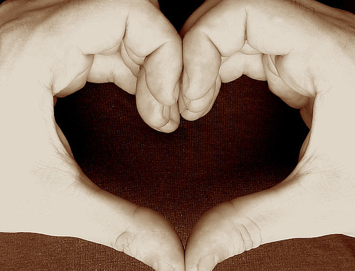 it takes TWO hands to make a heart! it takes TWO hearts to make love!