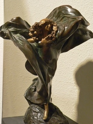 Loie Fuller in The Lily Dance by Theodore Louis-Auguste Riviere French 1896 Gilded Bronze
