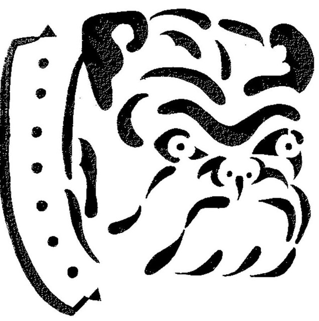 bulldog stencil 2 | Flickr - Photo Sharing!