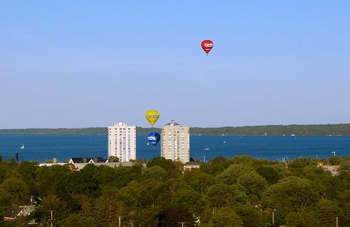 ontario hotairballoons barrie nearmiss kempenfeltbay