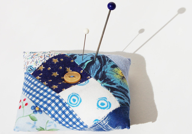 Blue pin cushion