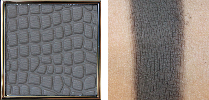 Make up store shade microshadow swatch