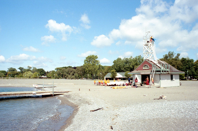 Action at the Leuty Ave Lifeguard Station