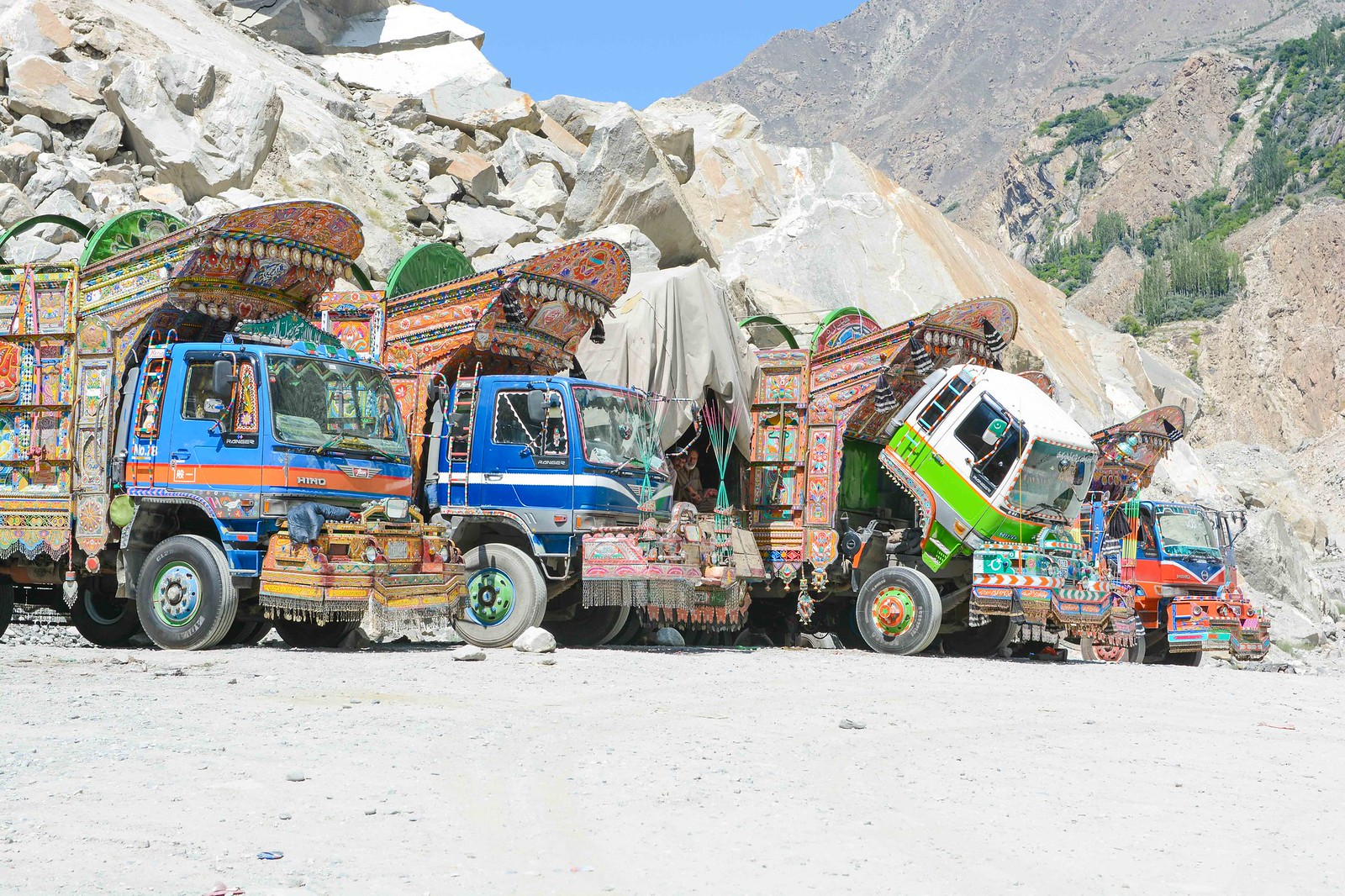 Famous Pakistani trucks.