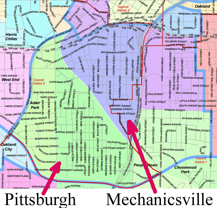 2015-08-27 Mechanicsville and Pittsburgh Atlanta Neighborhoods NPU map