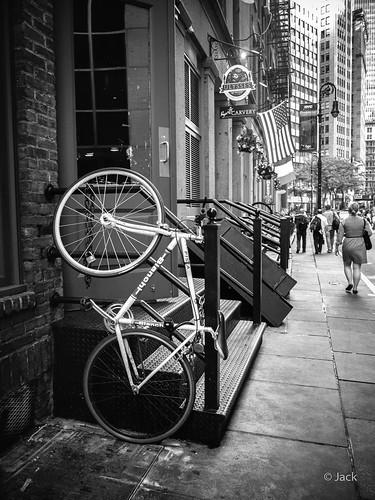 a Bianchi bike in NYC