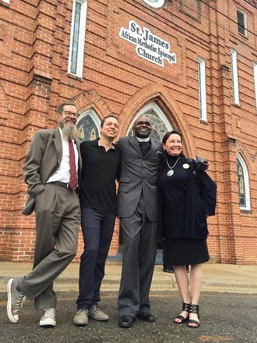 randallt, Markos Moulitsas, Reverend Brent La Prince Edwards and Neeta Lind. Photo Katherine Muller