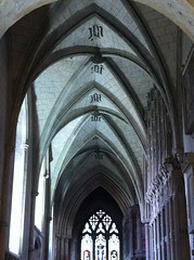 abbey, symmetry, arch, building, monastery, architecture, arcade, medieval architecture,