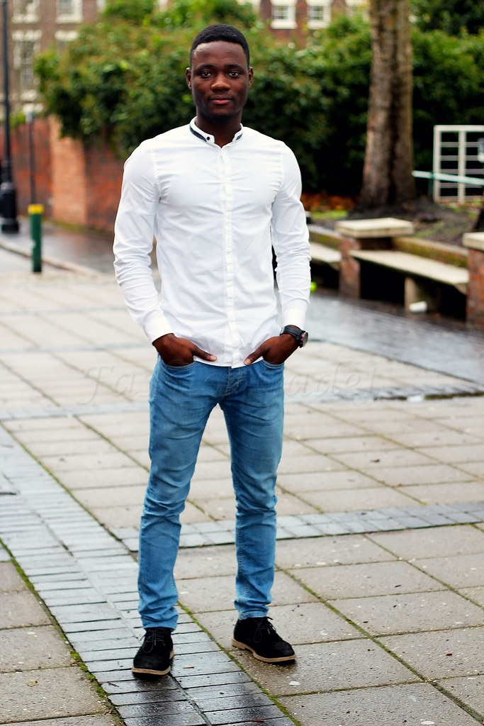 white-granddad-shirt-with-blue-denim-jeans