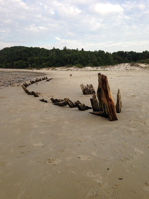The Wreck of the Ada K. Damon, Crane Beach, Ipswich, MA