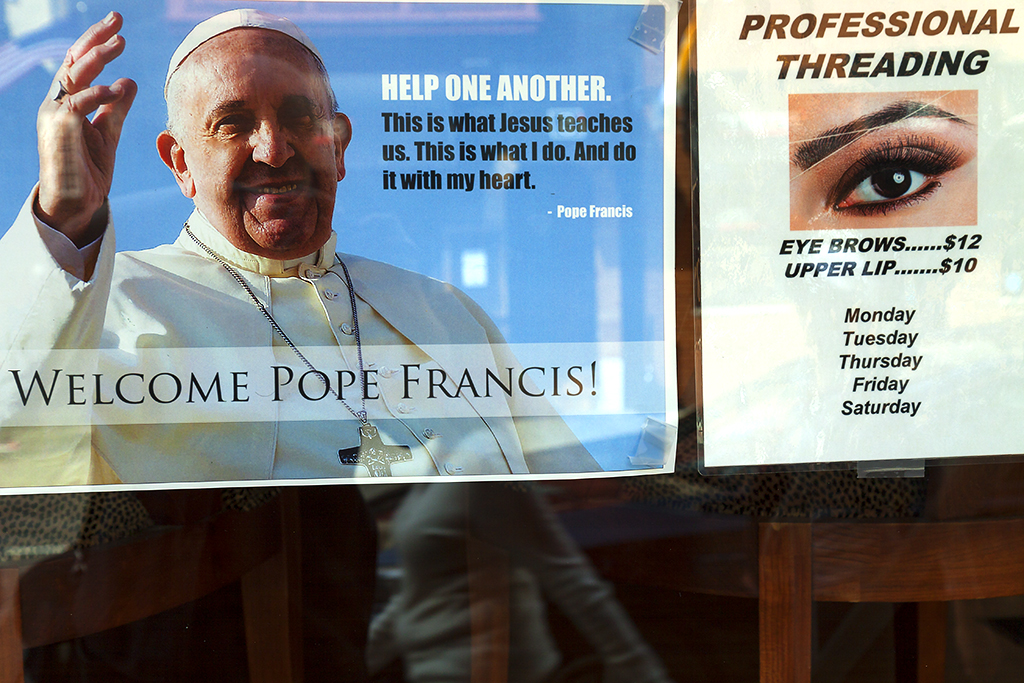 Pope Francis HELP ONE ANOTHER--Center City