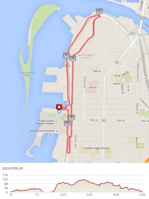 """Yesterday""""s awesome walk, 5.52 miles in 1:45, 11,866 steps, 215ft gain"""