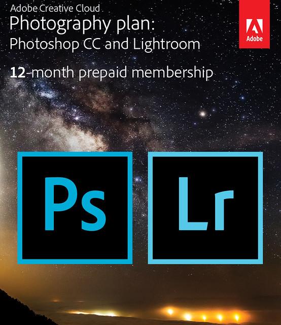 Adobe Creative Cloud: photographer plan