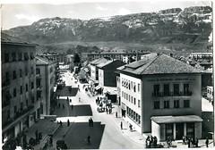 postcard - bolzano - via torino - 1954