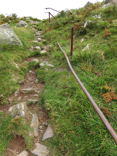A Rustic Path Leads Upwards at Torr Head on the Coastal Causeway Route of Ireland
