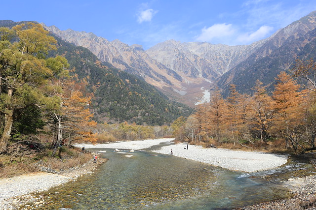 The Japanese Alps with Azusa River