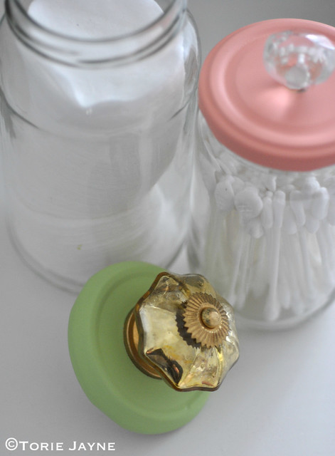 Upcycled Jars with Knobs 2