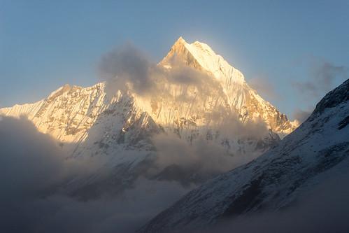 nepal sunset camp fog clouds trek np base annapurna himalayas 2012 basecamp annapurnabasecamp ghandruk westernregion