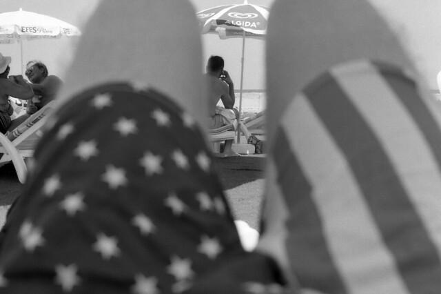 the lazy sunbathers [analog]