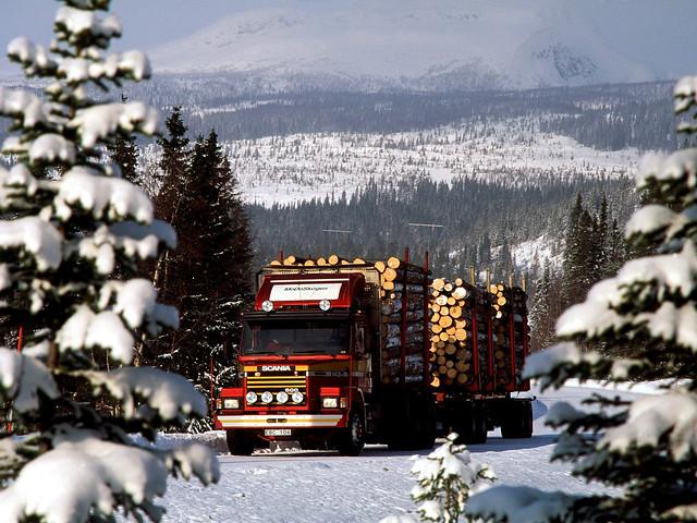Лесовоз Scania T143H 500 6x4 Timber Truck. 1991 – 1996 годы
