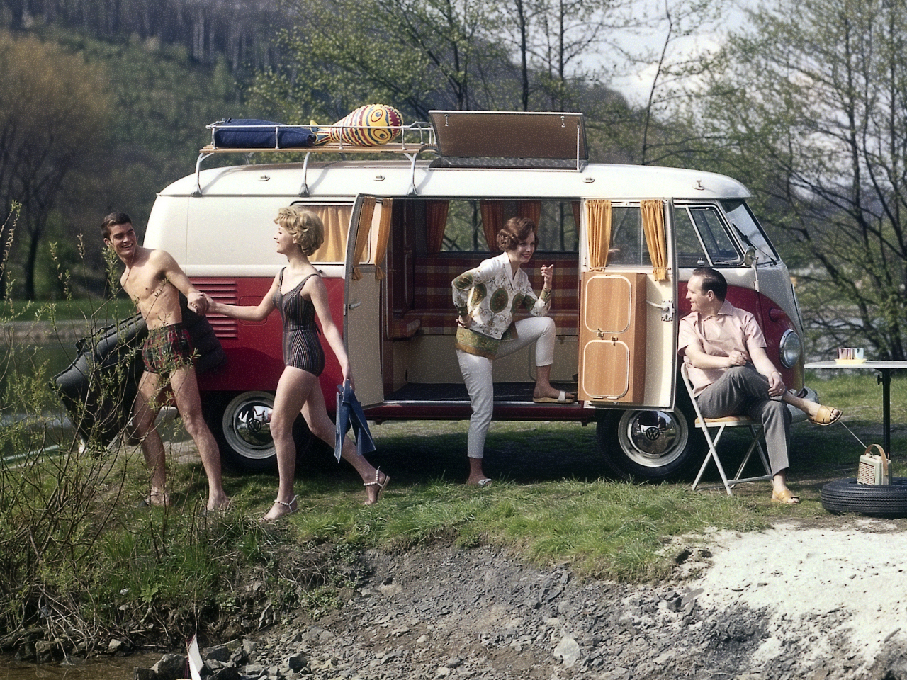 Туристический Volkswagen T1 Camper. 1958 - 1962 годы